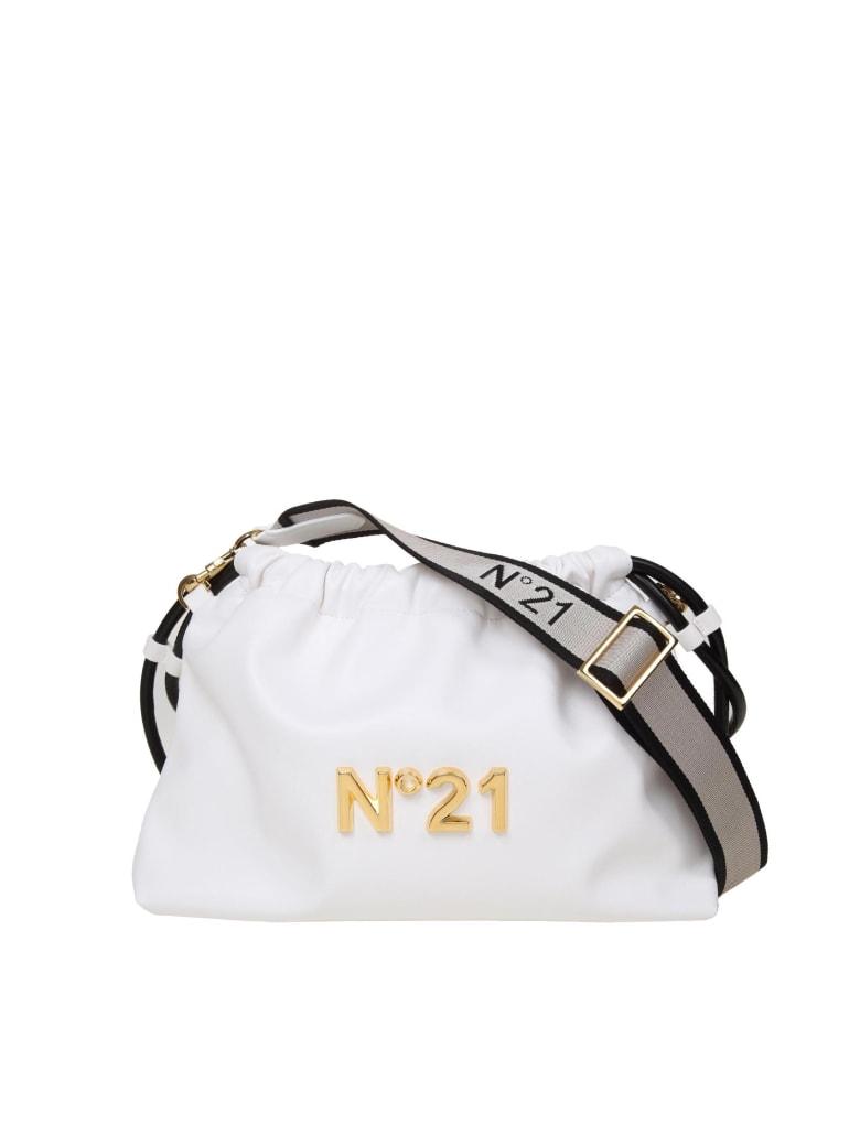 N.21 N ° 21 Eva Pouch Bag With Logo - White