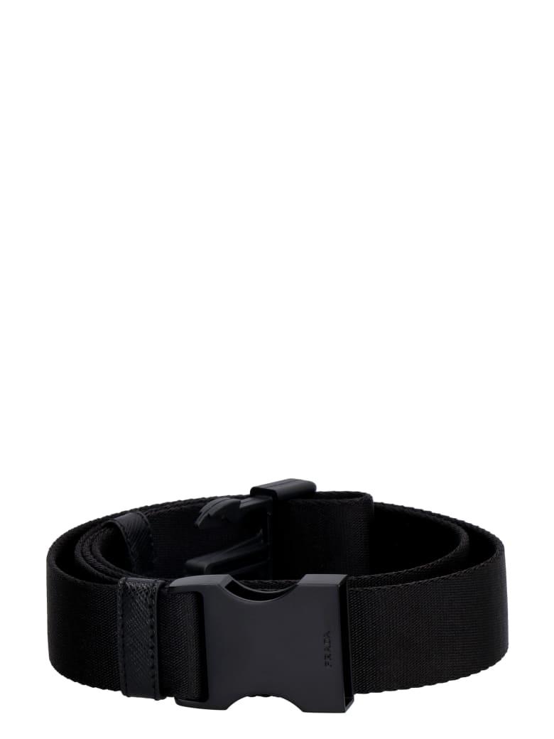 Prada Fabric Belt - black