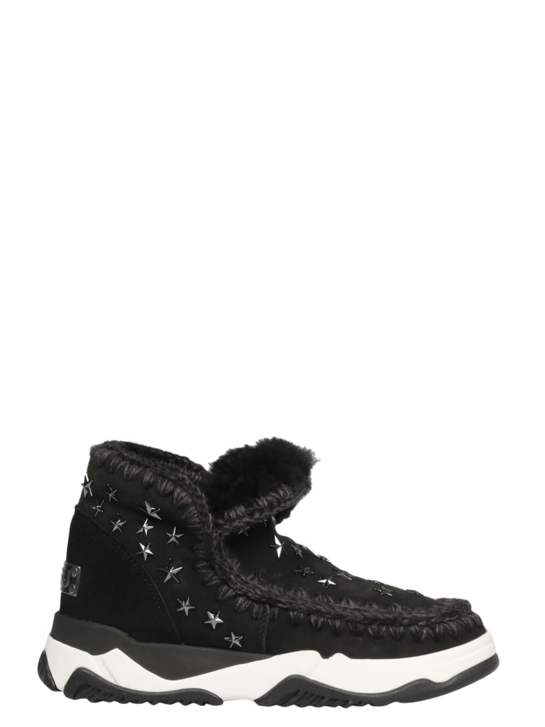 Mou Eskimo Trainer Star Studs - Black