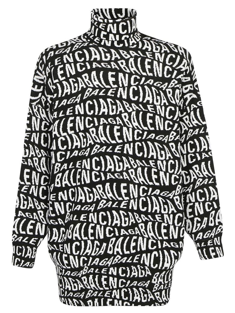 Balenciaga Turtleneck Sweater - Black/white