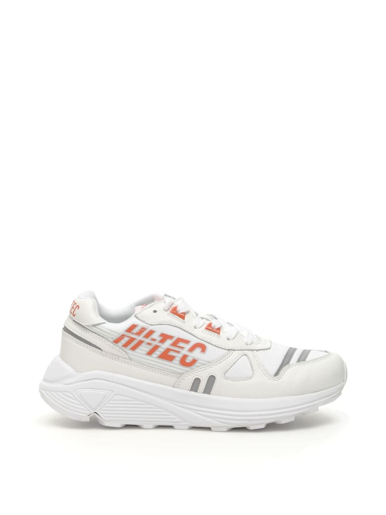 Hi-Tec Unisex Neon Shadwon Rgs Sneakers - WHITE ORANGE (White)