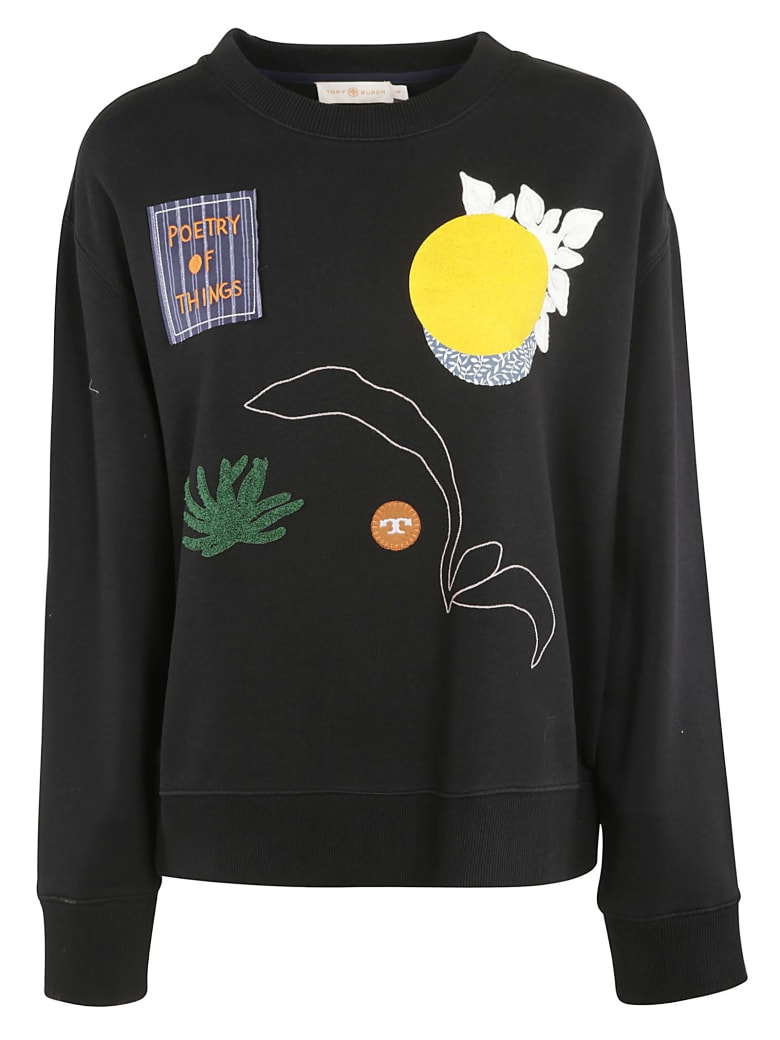 Tory Burch Embroidered Sweatshirt - black