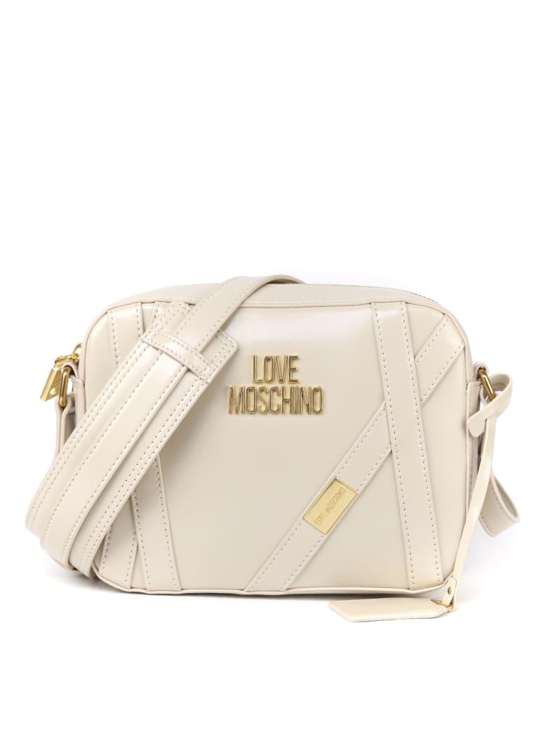 Love Moschino Beige Color Ecoleather Logo Bag - Beige