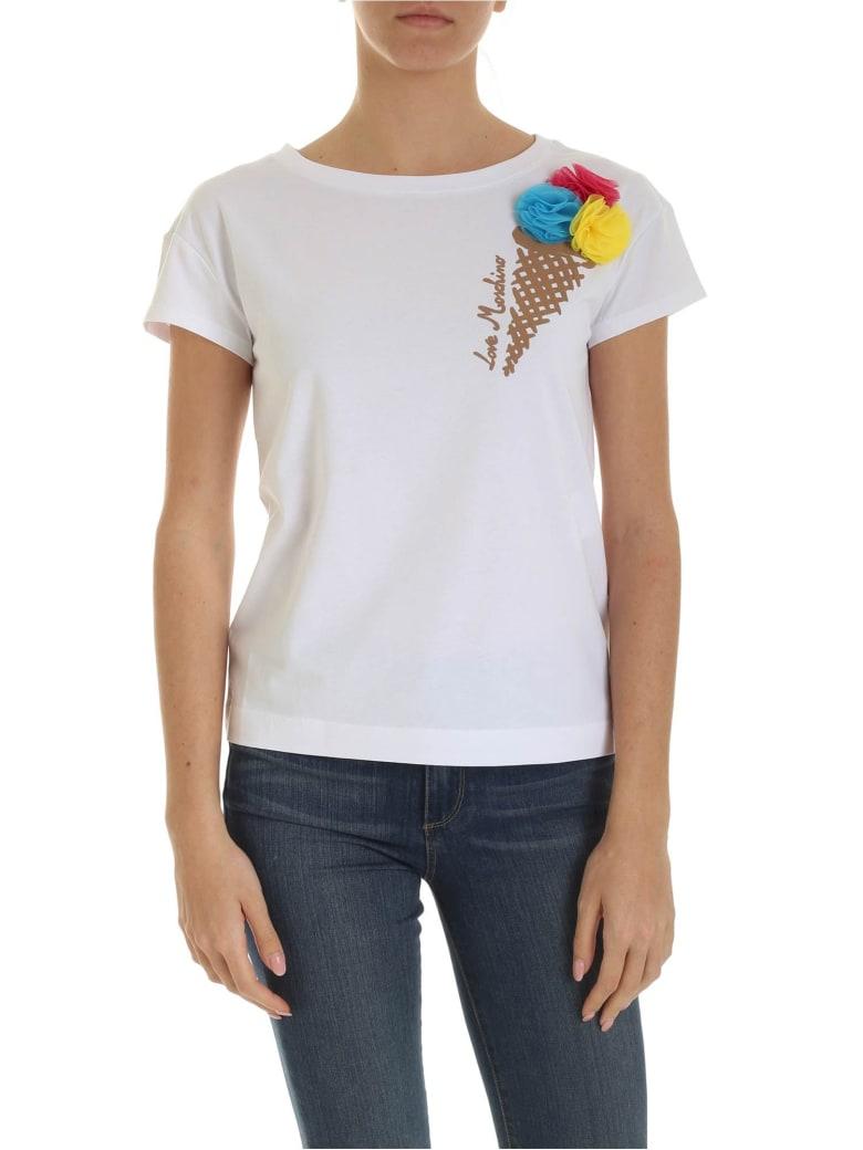 Love Moschino Ice Cream T-shirt - Bianco
