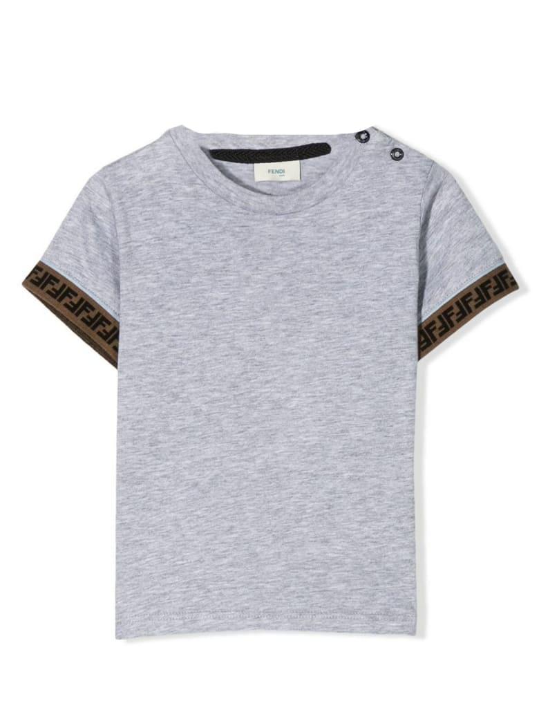 Fendi Grey Cotton T-shirt - Grigio