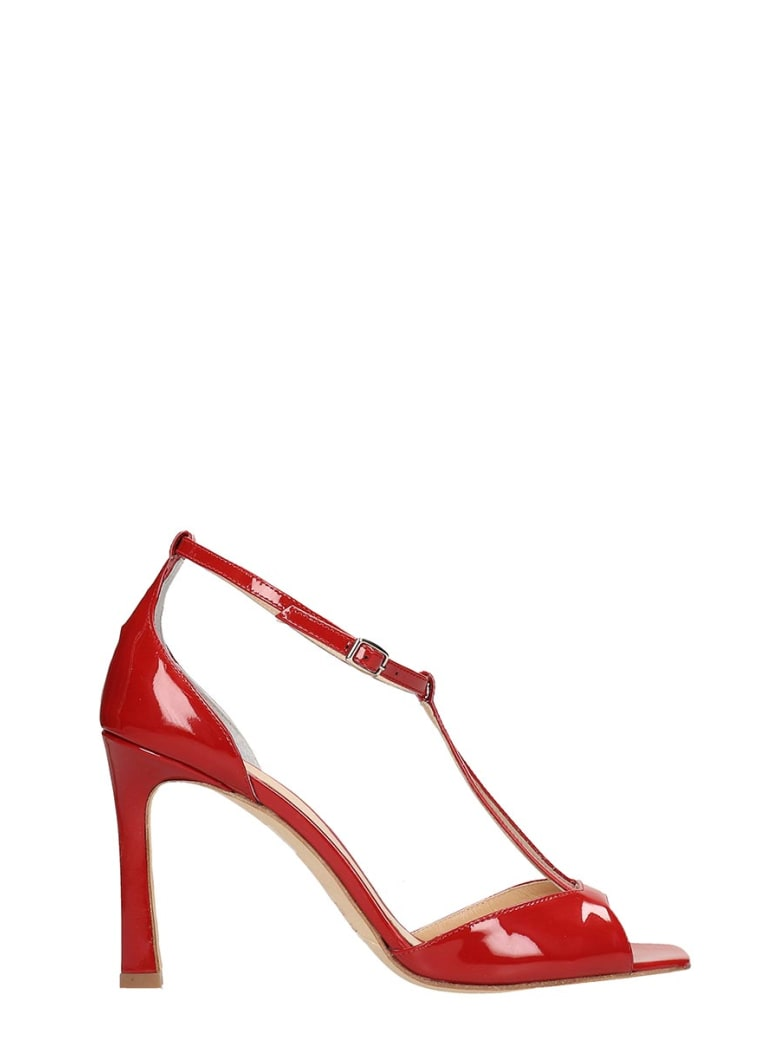 The Seller Red Patent Leather Sandals - red