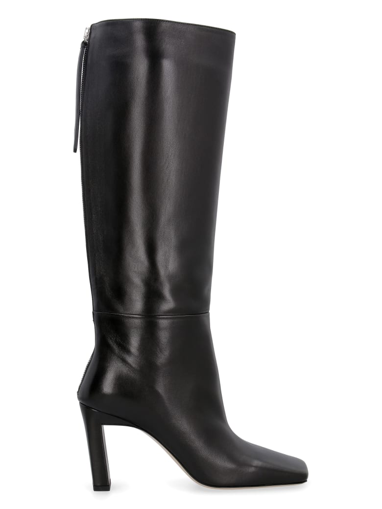 Wandler Isa Leather Boots - black