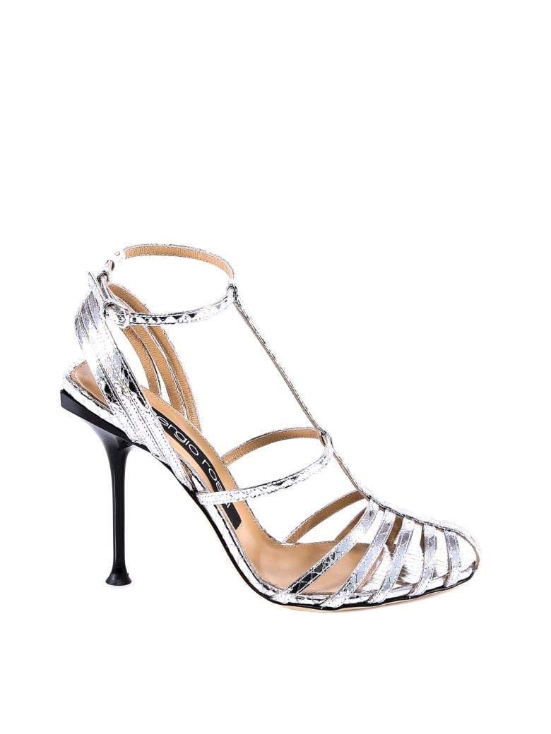 Sergio Rossi Sr Milano Banded Sandals - Silver
