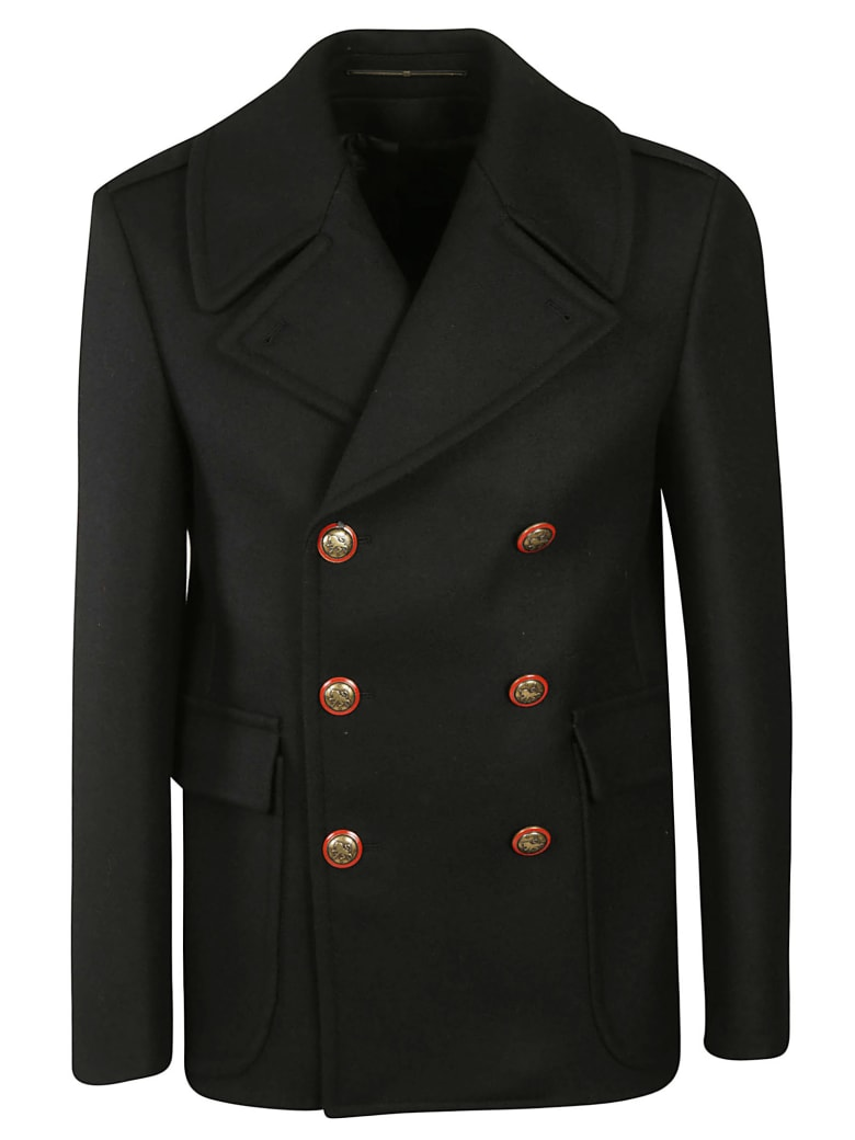 Givenchy Double Breasted Coat - Black