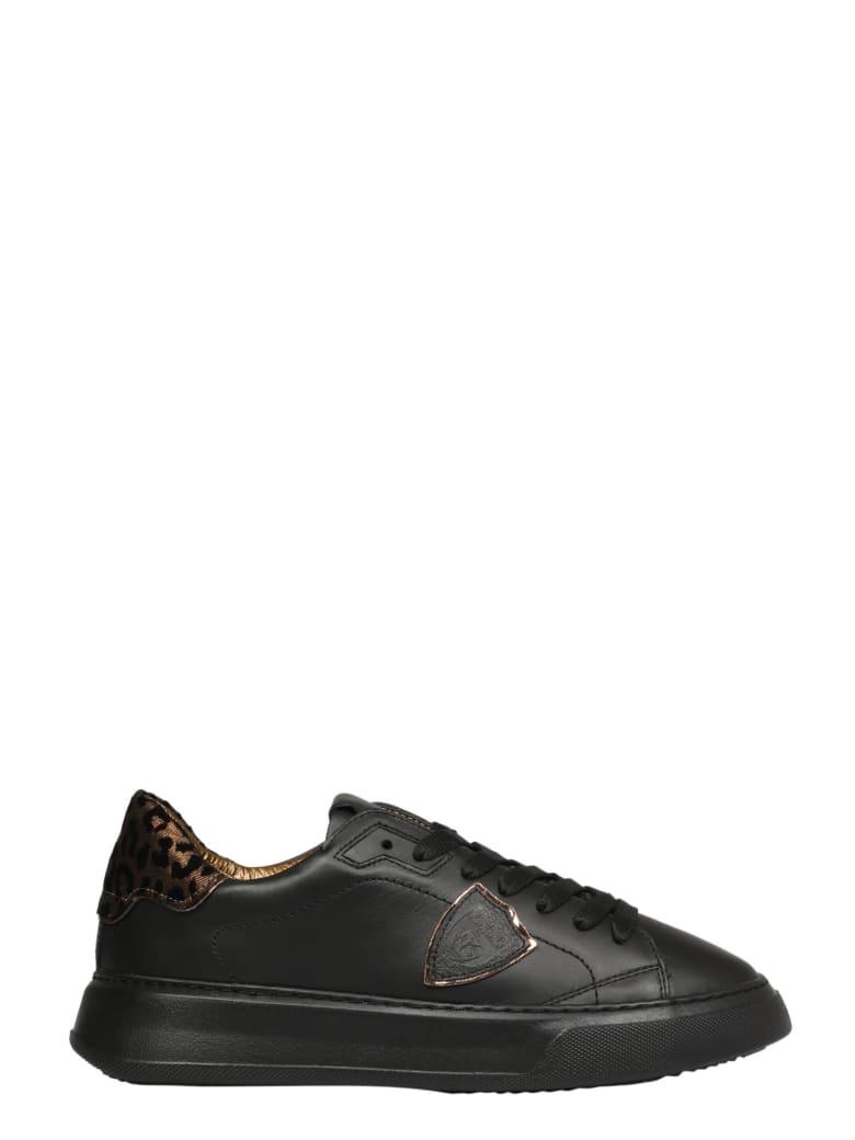 Philippe Model Temple L D Veau Leo Sneakers - Black