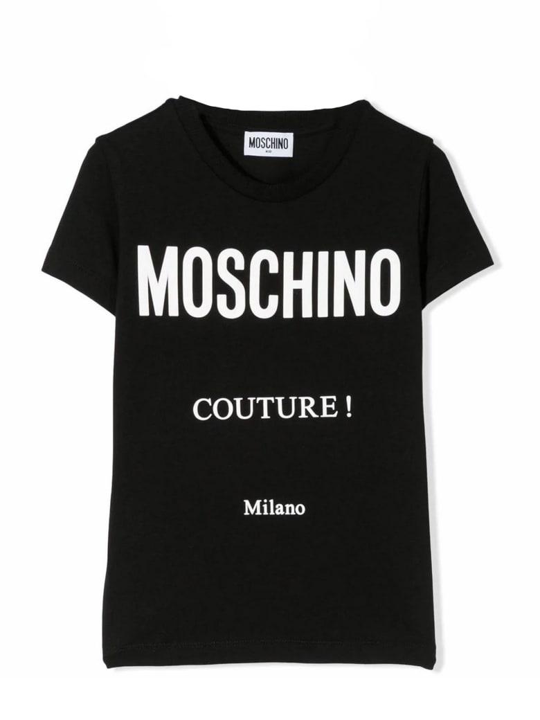 Moschino Black Cotton T-shirt - Nero