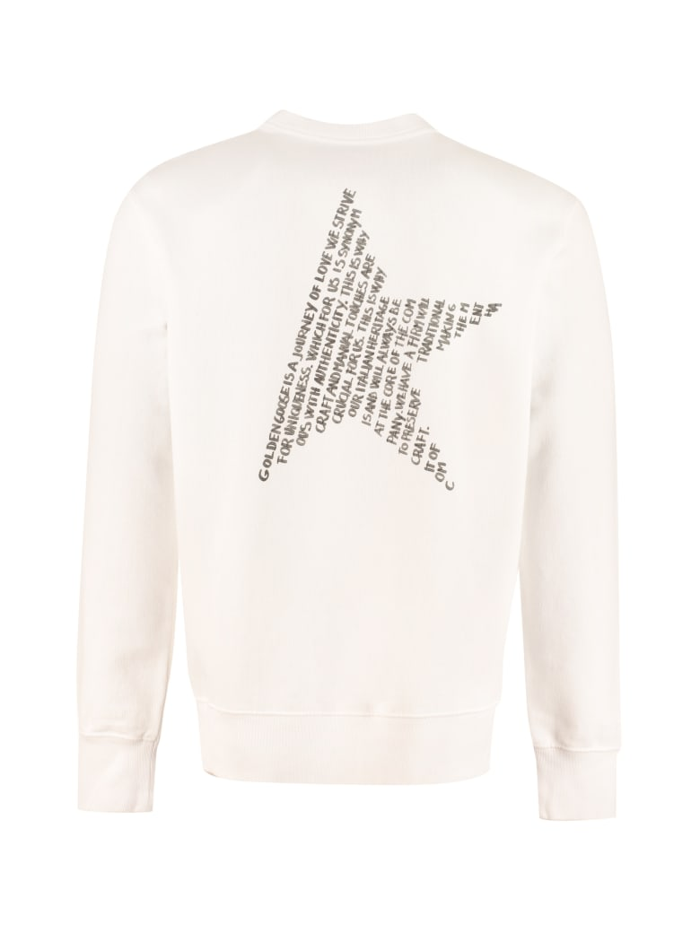 Golden Goose Archibald Cotton Crew-neck Sweatshirt - White