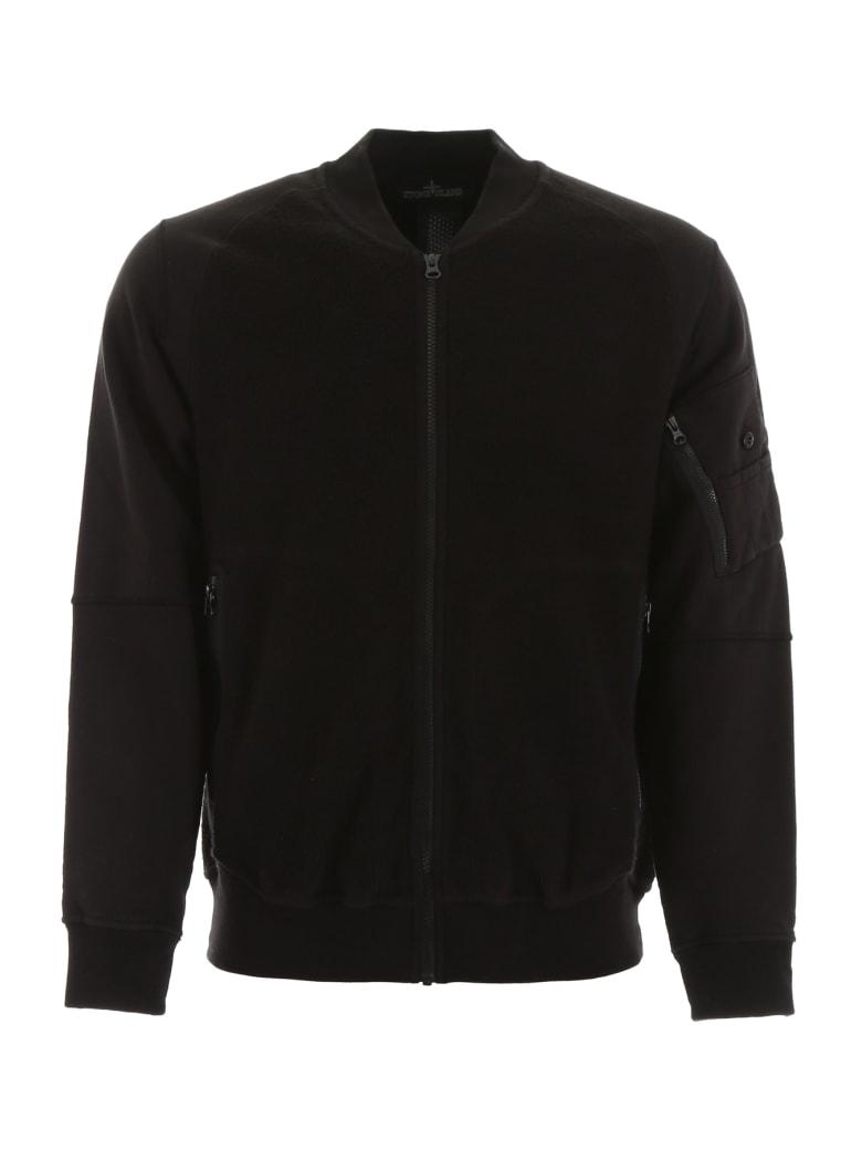 Stone Island Shadow Project Zipped Sweatshirt - BLACK (Black)