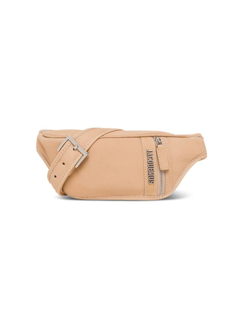 Jacquemus La Banane Belt Bag In Biege Leather - Beige