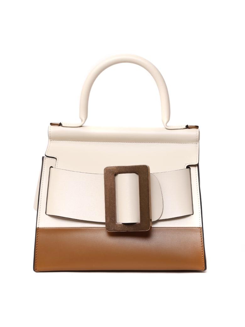 BOYY Karl 24 Two-tone Leather Hand Bag - White/tan