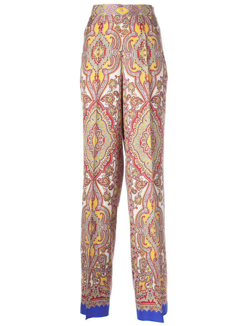 Etro Flared Trousers - Multicolor
