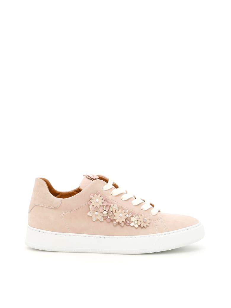Black Dioniso Flower Sneakers - NUDE (Pink)