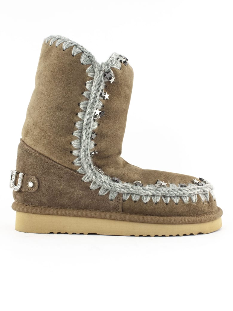 Mou Eskimo 24 In Elephant Grey Sheepskin - Tabacco