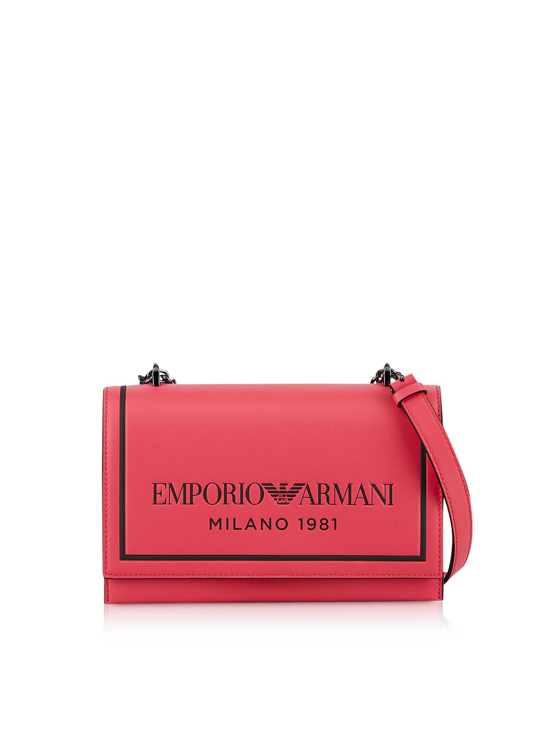Emporio Armani Two-tone Shoulder Bag - Red/Black