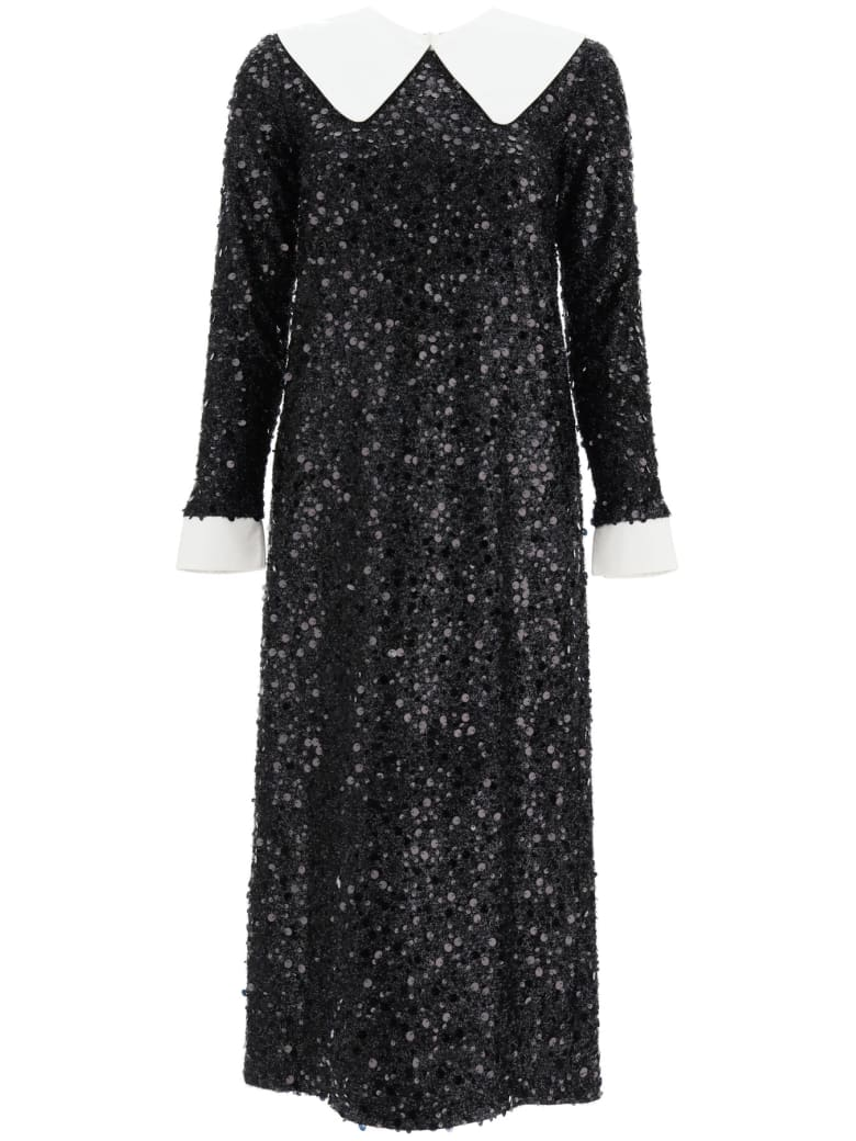 In The Mood For Love Sequined Midi Dress - BLACK (Black)