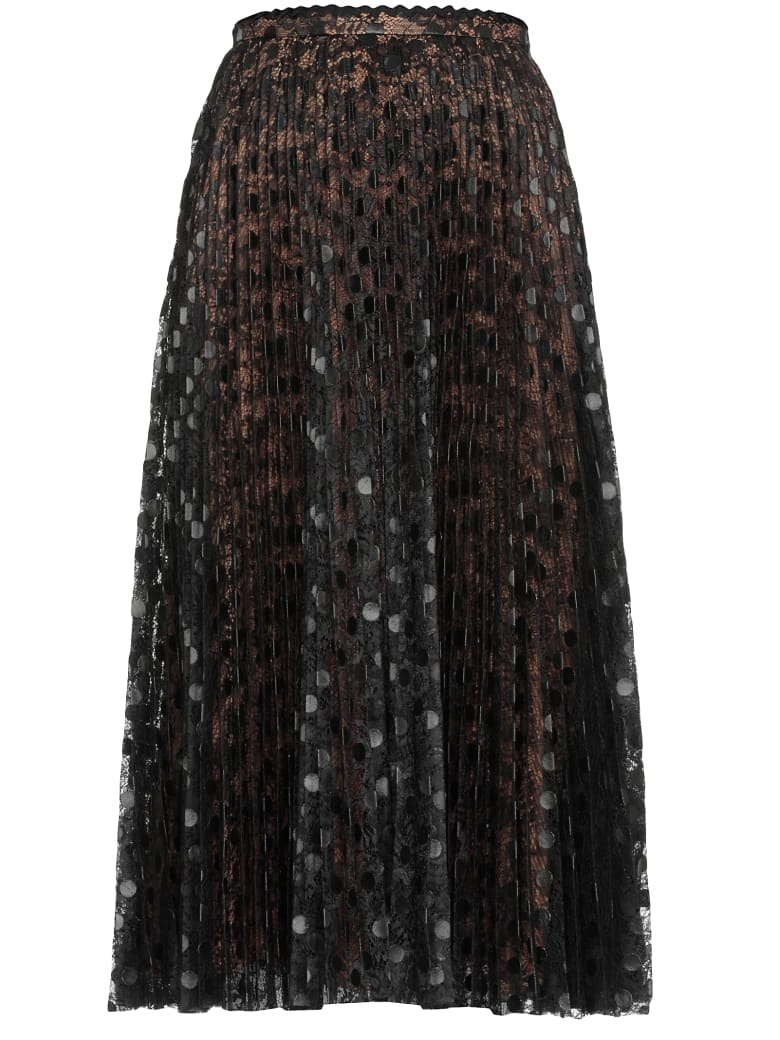 Marco de Vincenzo Pleated Skirt - BLACK