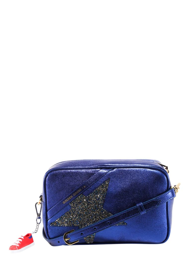 Golden Goose Metallic Glitter Crossbody Bag - Blue
