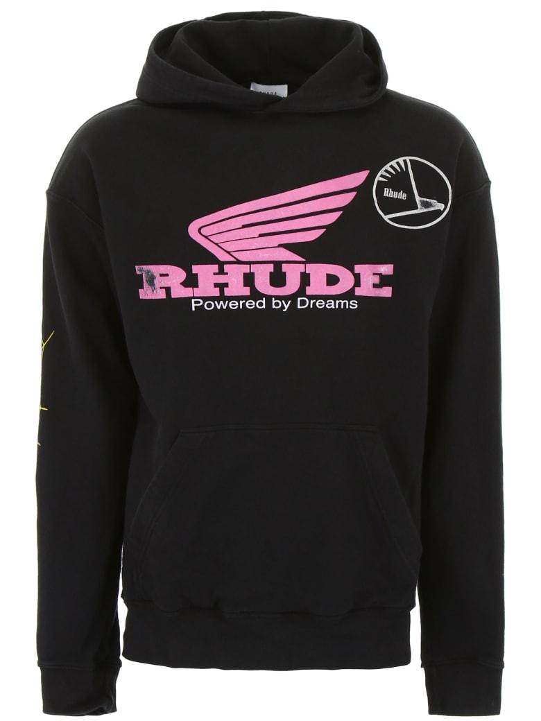 Rhude Logo Hoodie - BLACK (Black)