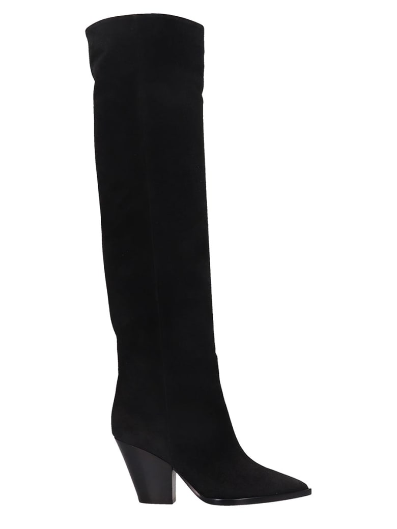 Lerre High Heels Boots In Black Leather - black