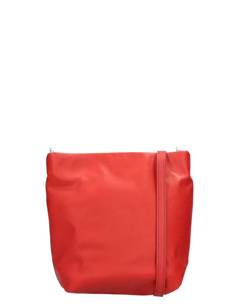 Rick Owens Small Adri Shoulder Bag In Red Leather - red