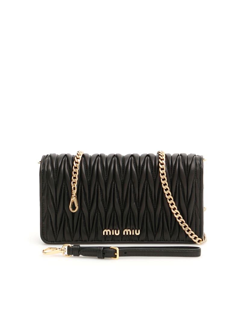 Miu Miu Matelassé Clutch With Chain - NERO (Black)