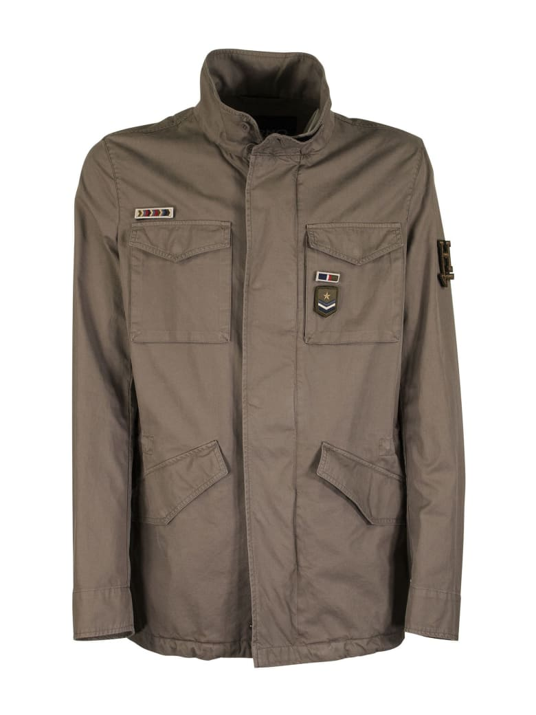 Herno Cotton Jacket With Pockets - Brown