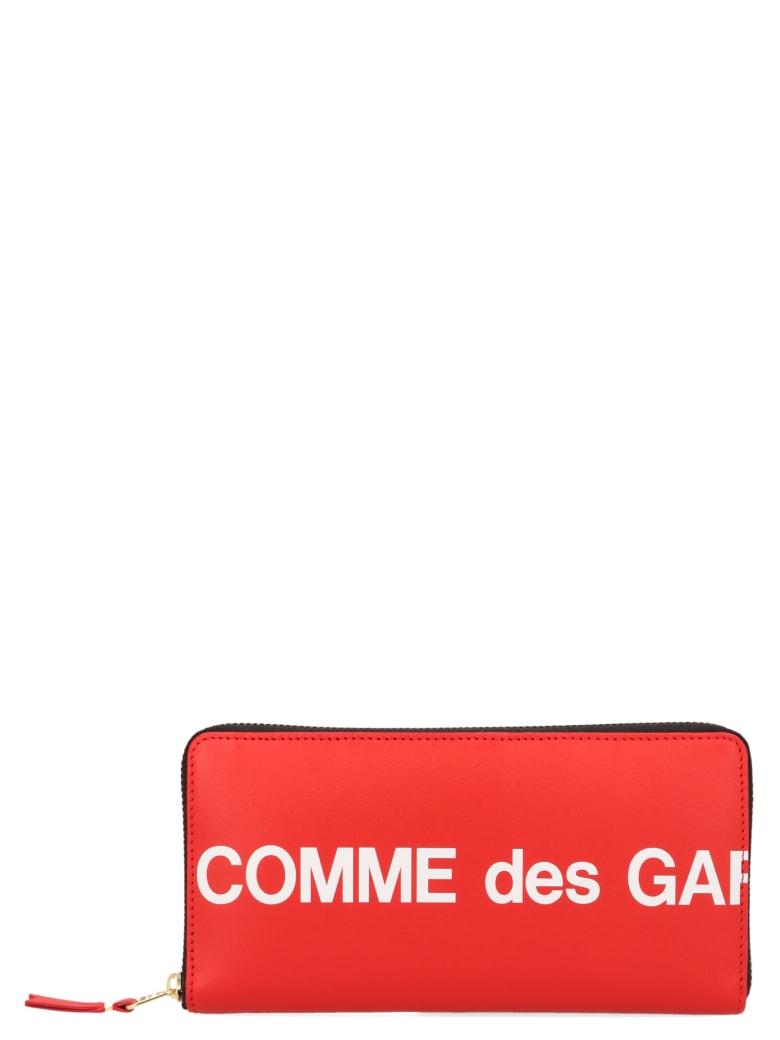 Comme des Garçons Wallet Comme Des Garçons 'huge Logo' Wallet - Rosso