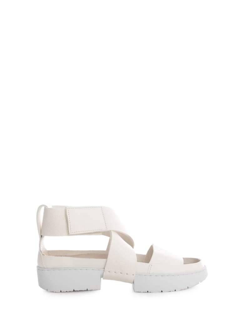 Trippen Sandals W/strap And Cross - White