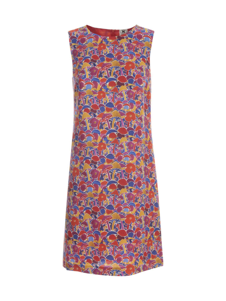 M Missoni Round Neck Sleeveless Tunic Dress - Multicolor