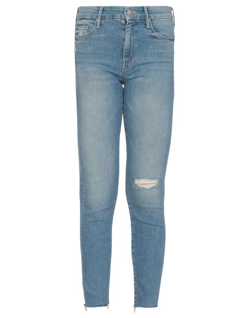Mother Blackbird Looker Ankle Fray Jeans - JEANS