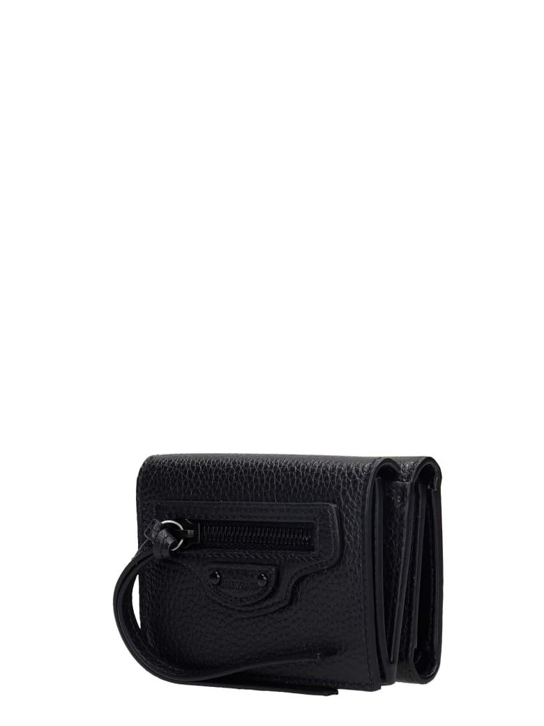 Balenciaga Neo Classic Wallet In Black Leather - Nero