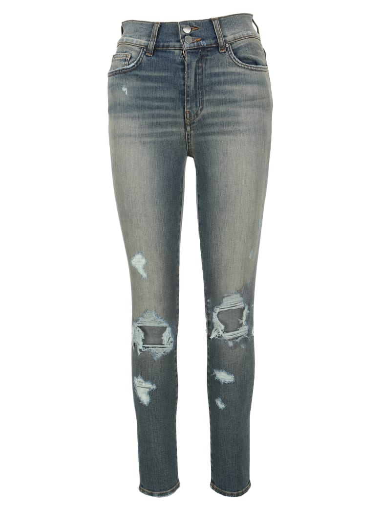 AMIRI Distressed Skinny Jeans - LIGHT BLUE