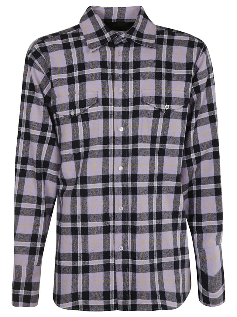 MSGM Checked Shirt - Violet