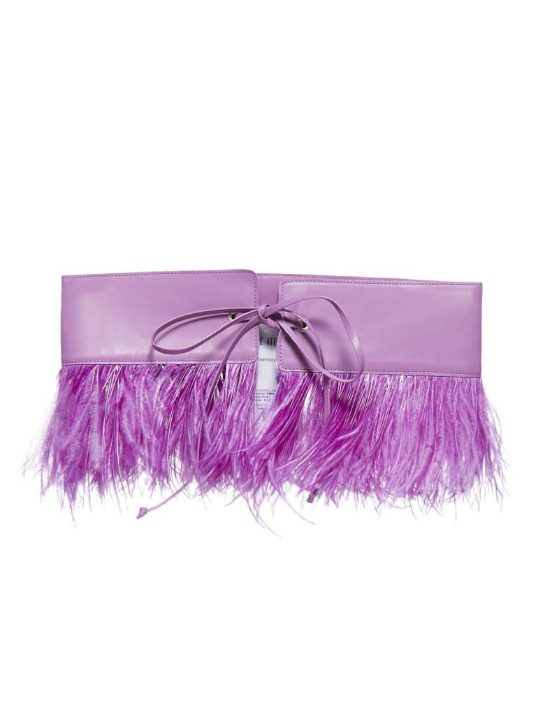 The Attico Ostrich Belt - Lilac