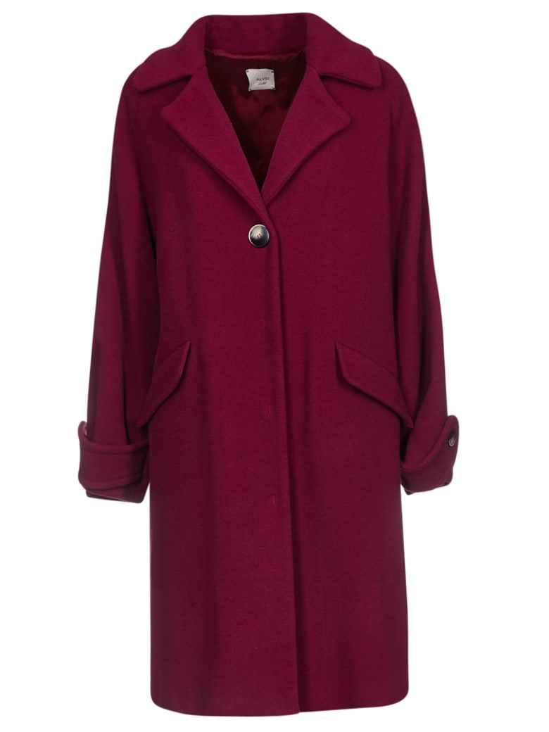Alysi Single-breasted Coat - Red