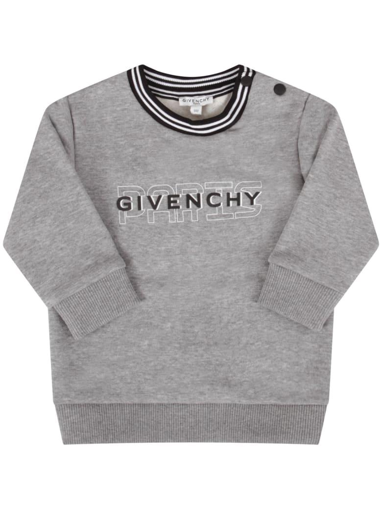 Givenchy Grey Sweatshirt For Babykid With Logo - Grigio