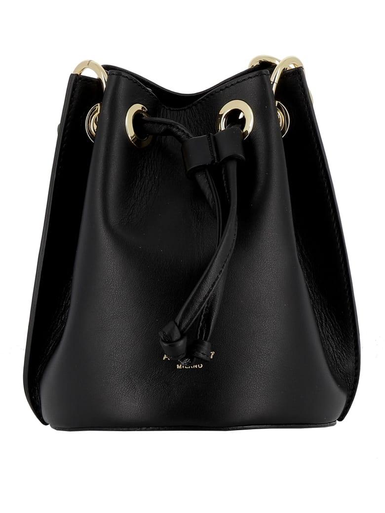 Avenue 67 Black Leather Handbag - BLACK