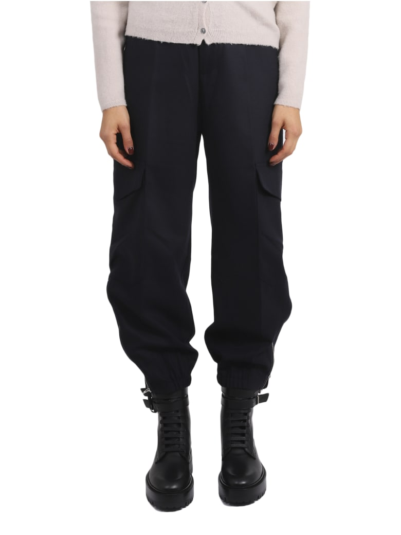 Barena Navy Cargo Frare Trousers - Navy