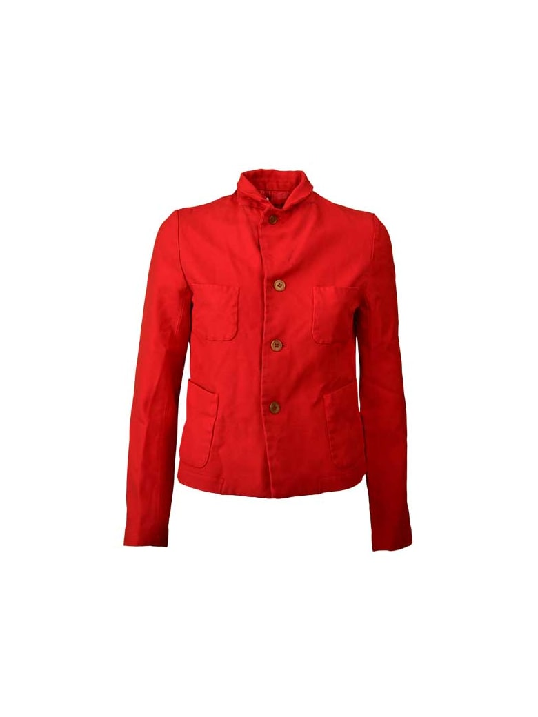 Comme Des Garçons Girl Creases Single Breasted Blazer - Red