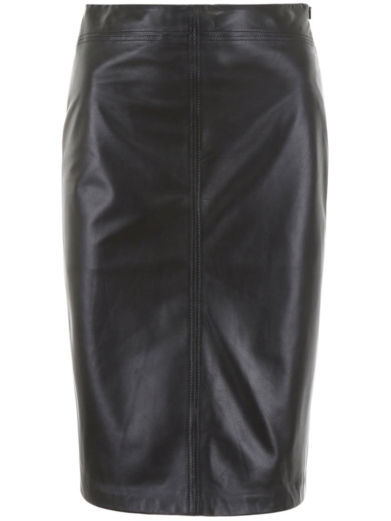 Closed Nappa Skirt - BLACK (Black)