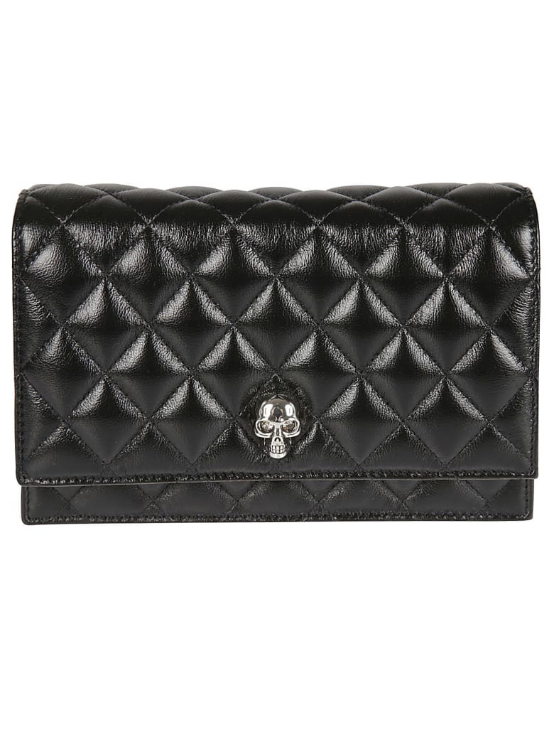 Alexander McQueen Quilted Chain Strap Mini Shoulder Bag - Black