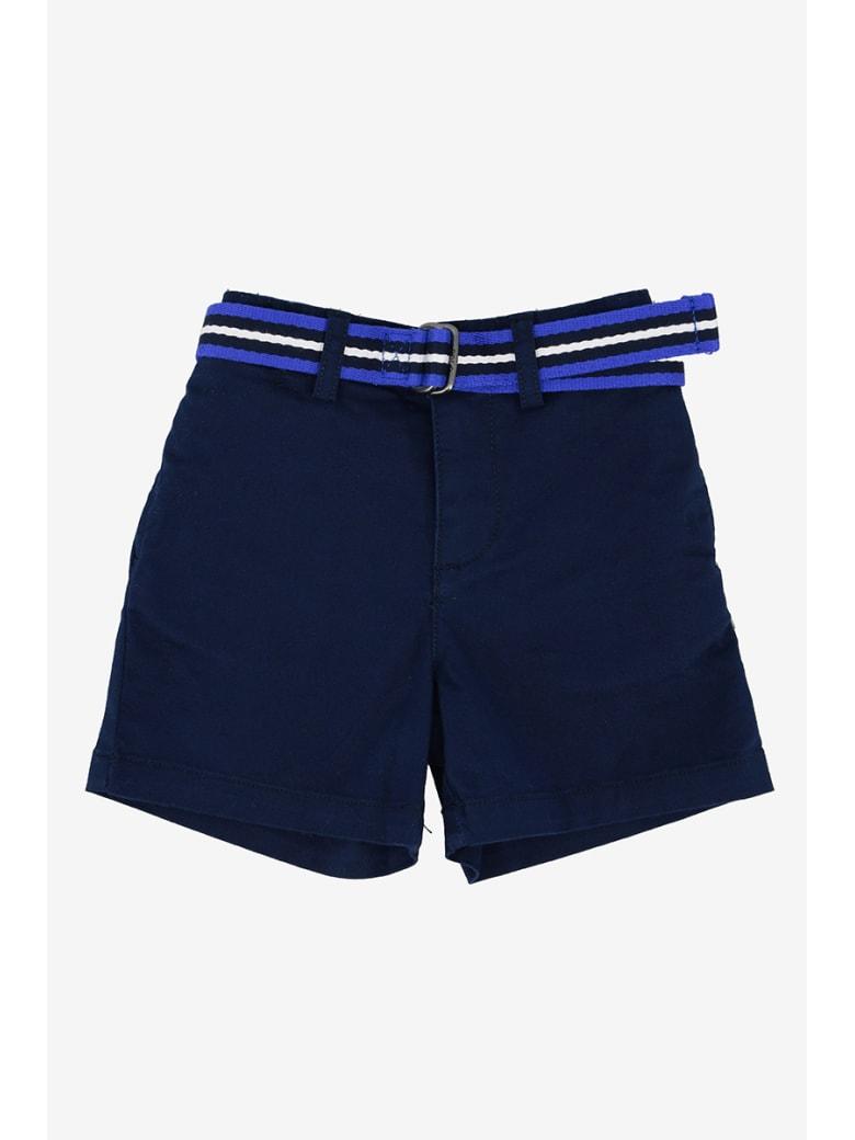 Polo Ralph Lauren Shorts Con Cintura - Blu