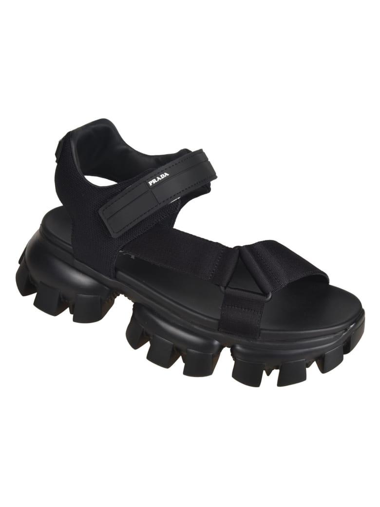 Prada Nastro Sandals - Black