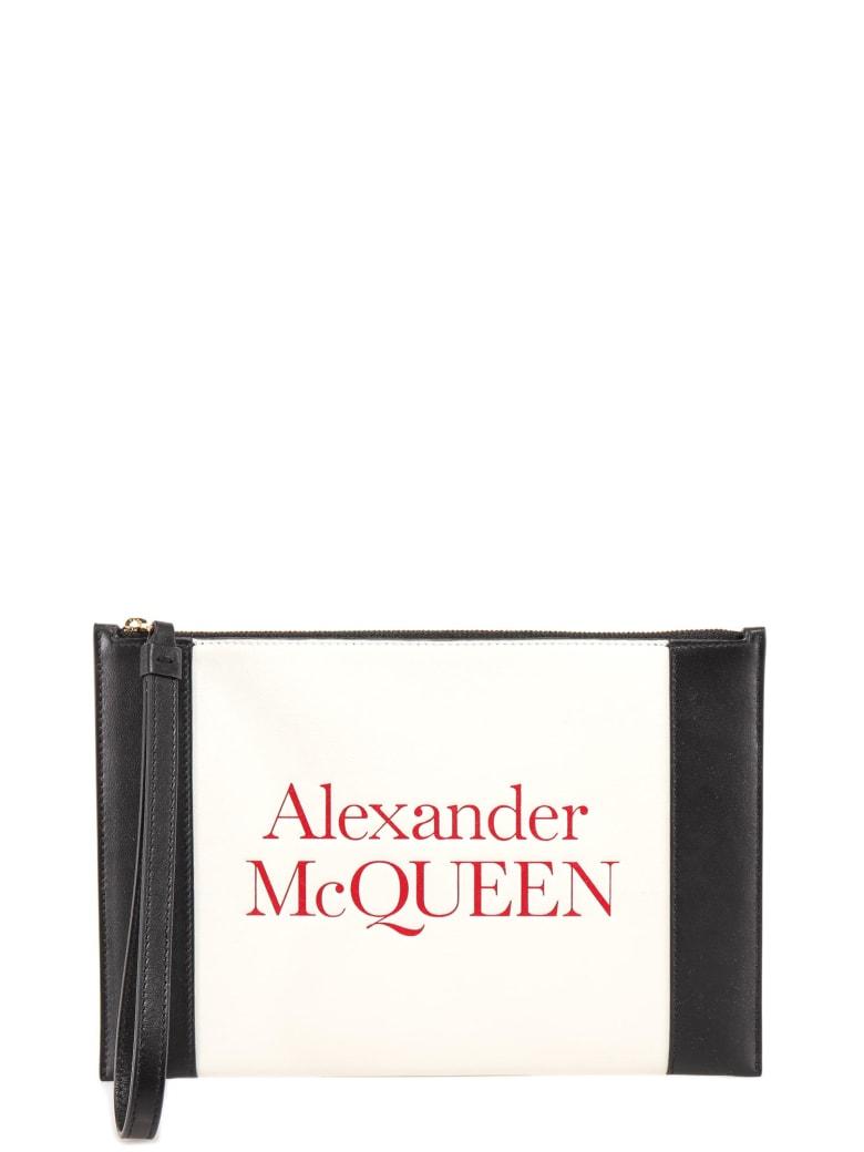 Alexander McQueen Debossed Logo Signature Clutch - Bianco