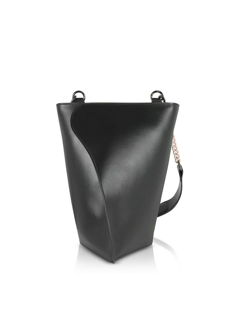 Giaquinto Black Layla Leather Shoulder Bag - Black
